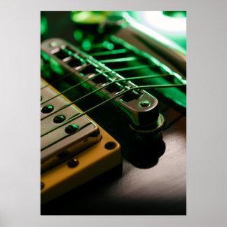 electric guitar macro poster