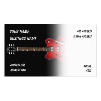 Electric Guitar - Music Business Card