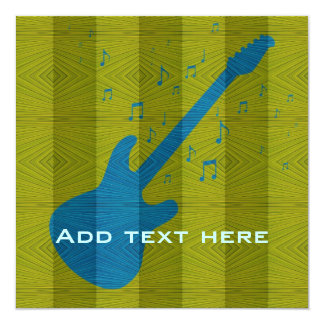 Electric Guitar - Music Invitation #4