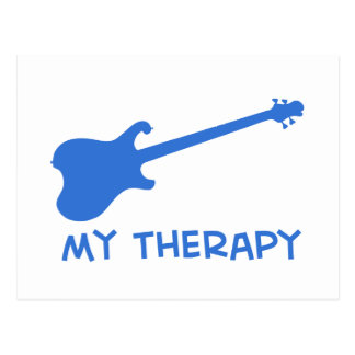 Electric Guitar my therapy Post Card