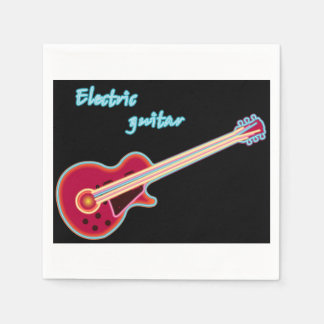 Electric Guitar Paper Napkins