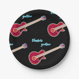 Electric Guitar Paper Plates 7 Inch Paper Plate