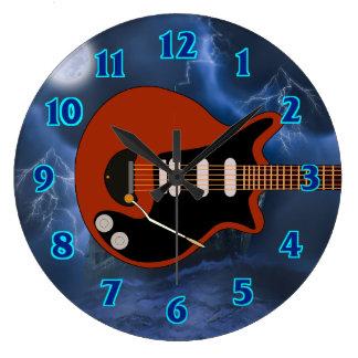 Electric Guitar Player Clock