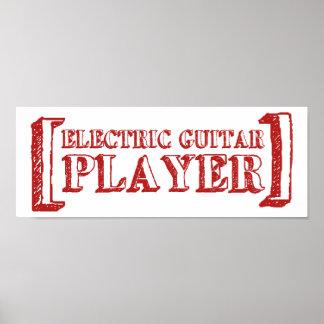 Electric Guitar Player Print