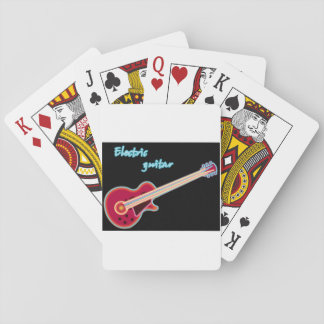 Electric Guitar Playing Cards