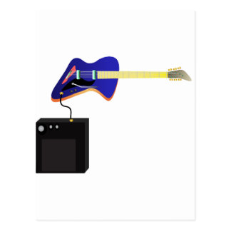 electric guitar post cards