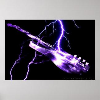 ELECTRIC GUITAR purple Print