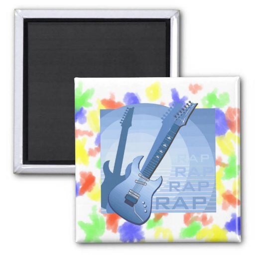 electric guitar rap word music bluue.png magnets