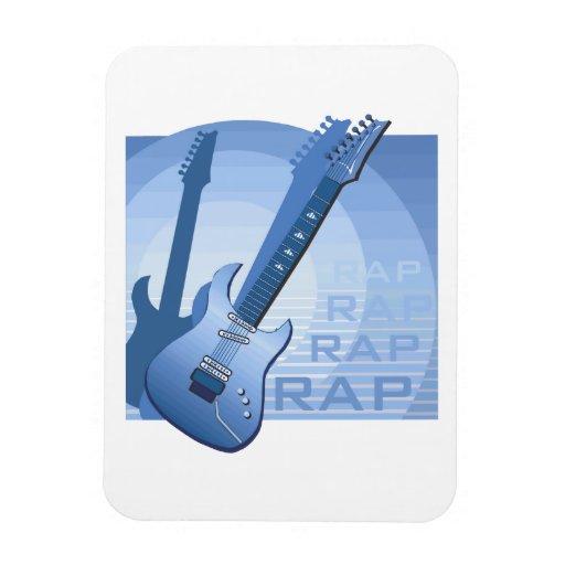 electric guitar rap word music bluue.png flexible magnet