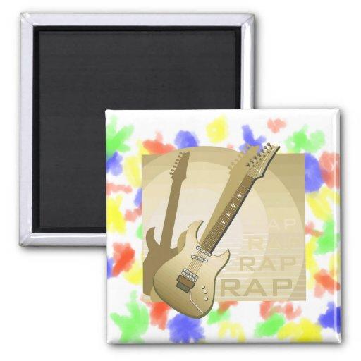 electric guitar rap word music bronze.png magnet