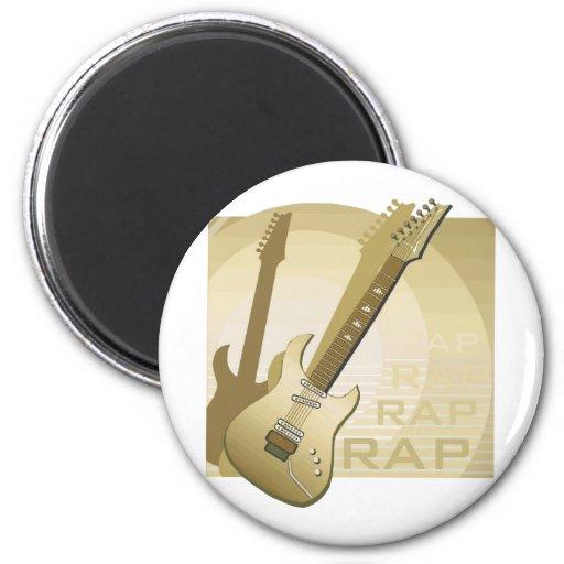 electric guitar rap word music bronze.png fridge magnet