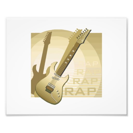 electric guitar rap word music bronze.png photo art