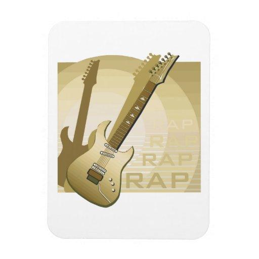 electric guitar rap word music bronze.png flexible magnets