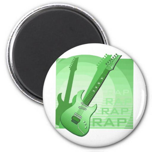 electric guitar rap word music green.png magnets