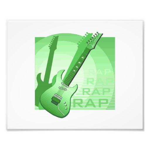 electric guitar rap word music green.png photo art