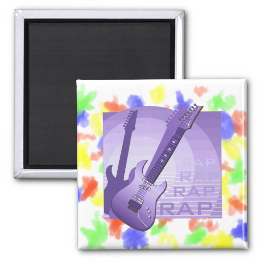 electric guitar rap word music purple.png refrigerator magnets