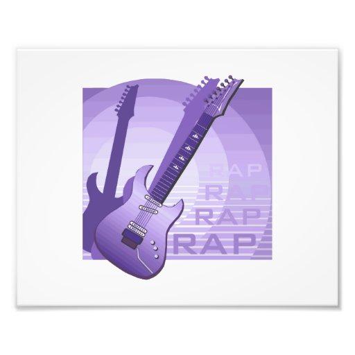 electric guitar rap word music purple.png photographic print