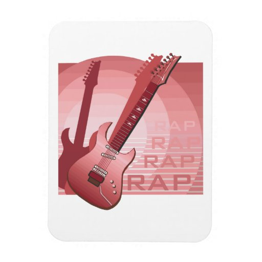 electric guitar rap word music red.png rectangle magnets