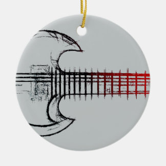 Electric Guitar (Red Blue) Christmas Ornament