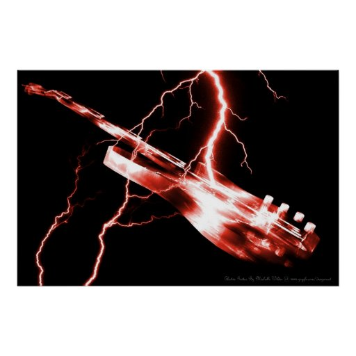 ELECTRIC GUITAR red Poster