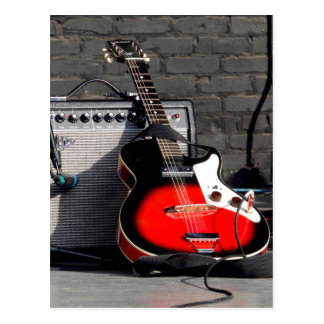 ELECTRIC GUITAR - RED, WHITE, and BLACK Postcard