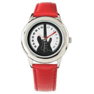 Electric Guitar Rock Music Cool Black Red Modern Watch