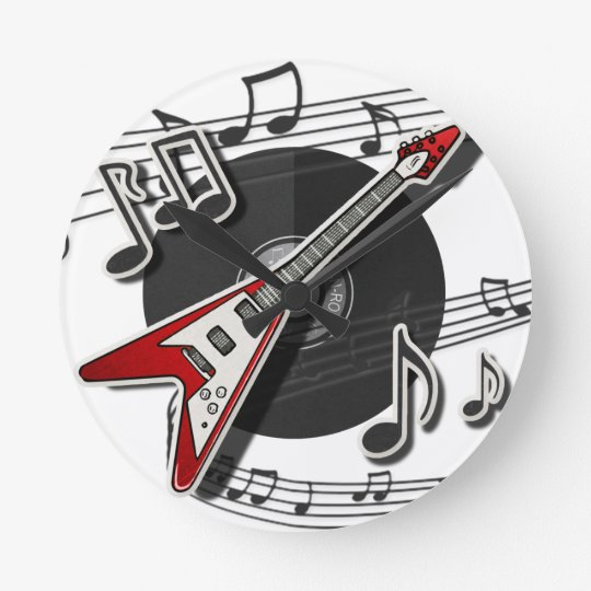 Electric Guitar Rock & Roll Notes Music Cool