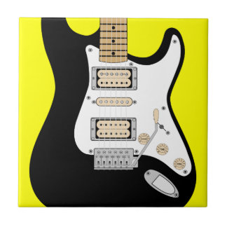Electric Guitar Small Square Tile