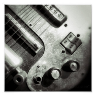 Electric Guitar Square Print