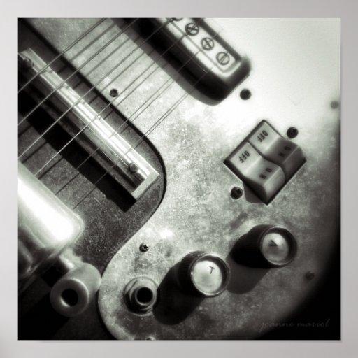 Electric Guitar Square Print
