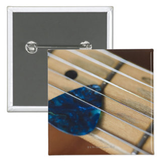 Electric Guitar Strings 15 Cm Square Badge