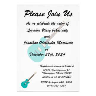electric guitar teal png custom announcements