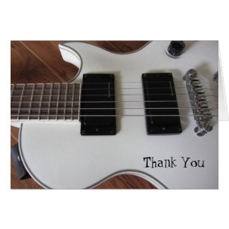 Electric Guitar Thank You Note Card