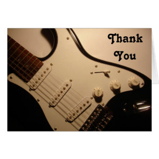 Electric Guitar, Thank You Note Note Card