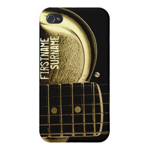 Electric Guitar Vintage Grunge Speck® iPhone 4 Cas Covers For iPhone 4