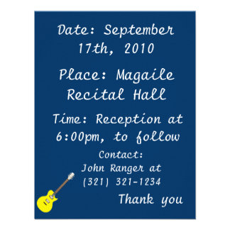 electric guitar yellow png personalized announcement