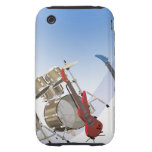 Electric guitars and a drum kit tough iPhone 3 covers