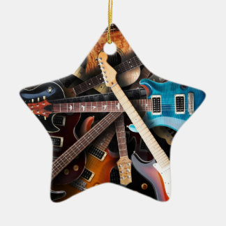 Electric Guitars Concept Ceramic Star Decoration