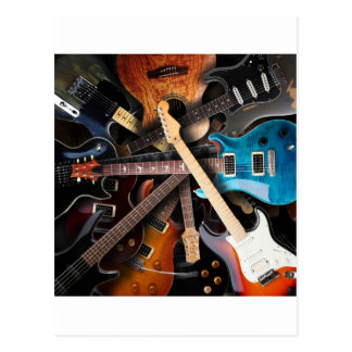 Electric Guitars Concept Post Cards