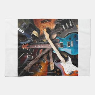 Electric Guitars Concept Tea Towel