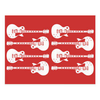 Electric Guitars Graphic Postcard