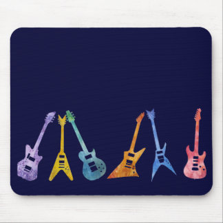 Electric Guitars in Electric Colors Mouse Pad