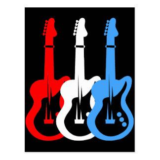 electric guitars postcard