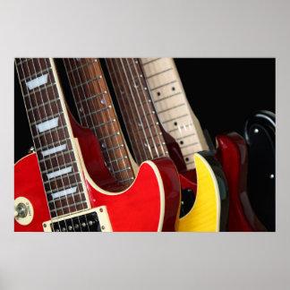 Electric Guitars Poster