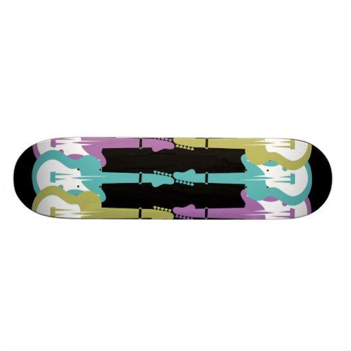 electric guitars skate board decks