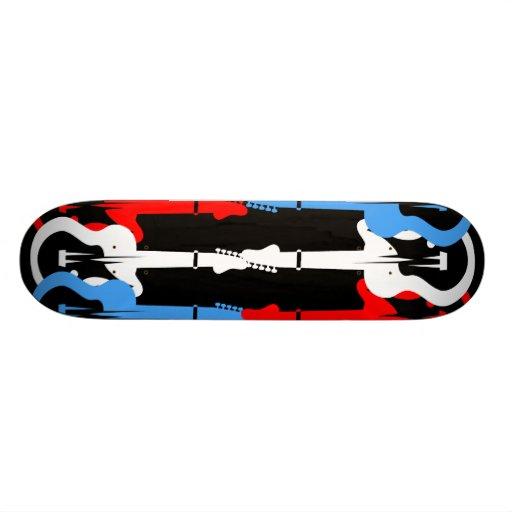 electric guitars skateboard decks