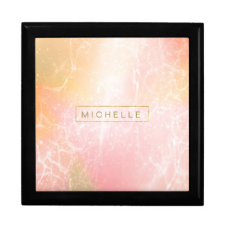 Electric Holograph Gradient Pink ID371 Large Square Gift Box