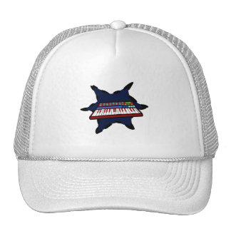 Electric Keyboard Blue Splash Musician Design Trucker Hat