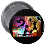 Electric Laser Show Cheerleaders 10 Cm Round Badge