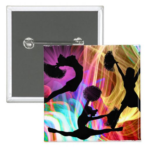 Electric Laser Show Cheerleaders 15 Cm Square Badge